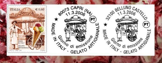francobollo dedicato al gelato artigianale